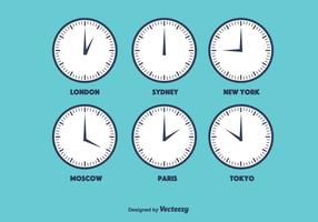 Zeitzone Vektor