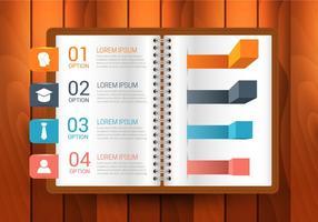 Gratis bok Infographics Vector