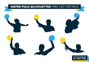 Vattenpolo Silhouettes Gratis Vector Pack