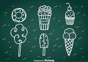 Süßer Snack Handgezeichneter Vektor