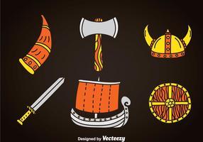 Barbariska element ikoner vektor