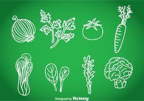 Grönsaker Handdragen Vector