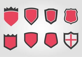 Free Wappen Shield Set Vektor