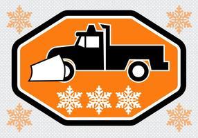 Gratis Snow Plough Truck Vector