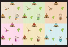 Indianska mönster vektor