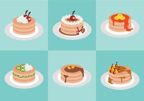 Süßer Pfannkuchen-Vektor