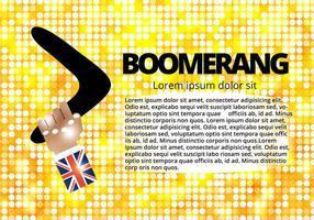 Fri hand och boomerang vektor