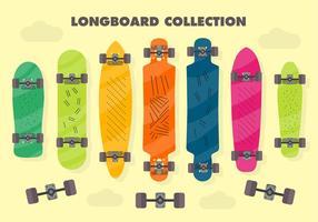 Gratis Longboard Vector Bakgrund