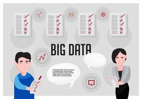 Kostenlose große Daten Vektor-Illustration