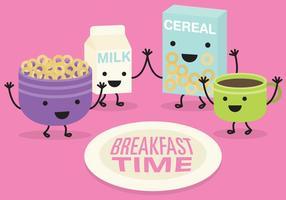 Frühstück Zeit Vektor