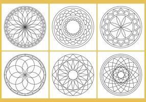Färbung Mandala Seite Vektoren