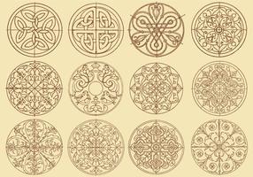 Swirly dekorationsvektorer