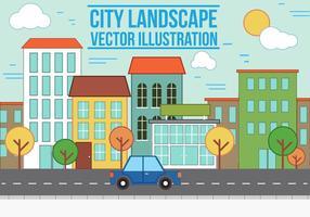 Gratis vektor City Landscape