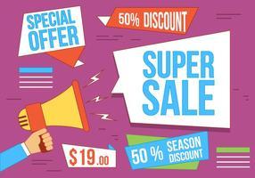 Gratis Vector Super Sale Illustration