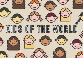 Ungar i världens vektormönster