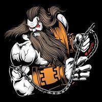Zeus mit Ketten Design vektor