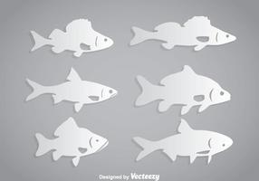 Fisk vit vektor
