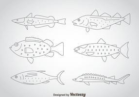 Fish Thin Outline Ikoner