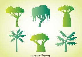 Träd samling vektor