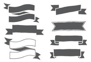 Handgezeichnete Bandformen vektor
