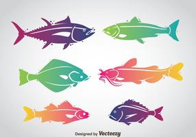 Fisk Färgrik Vektor