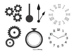 Uhrteile Vektorformen