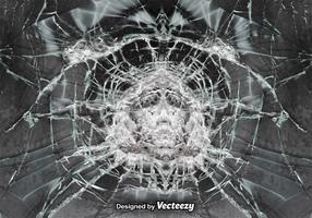 Vektor Cracked Glass Realistisk bakgrund