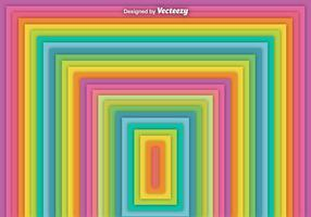Vektor abstrakt fyrkantig regnbåge bakgrund