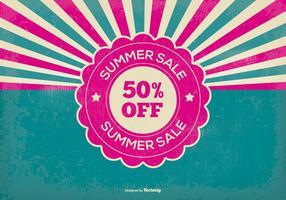 Retro Sommer Verkauf Illustration vektor