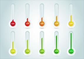 Ziel-Thermometer-Vektor-Vorlage vektor