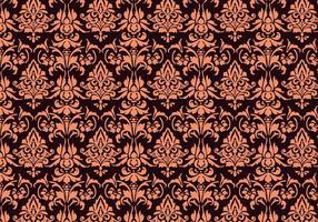 Blumen-Damast-Muster vektor