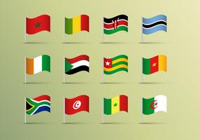 Afrika Flaggor Vector Free