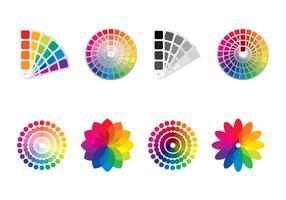 Färgstämplar vektor