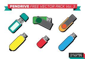 Stift-Laufwerk kostenlos Vektor-Pack