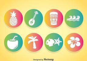Hawaii Element Icons Vektor