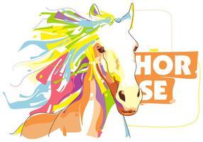 Den vackra hästen vektor