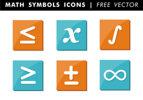 Math Symboler Ikoner Gratis Vector