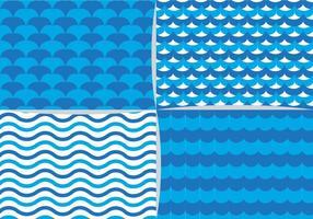 Blått vattenelementmönster vektor