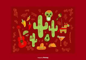Mexikanska elementvektorer vektor