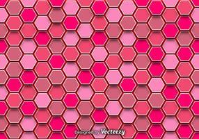Zusammenfassung Hintergrund mit rosa Sechsecke