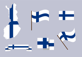 Kostenlose Finnland Karte Vektor