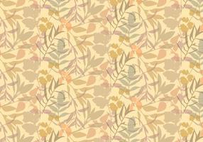 Boho Pflanzen Blätter Muster