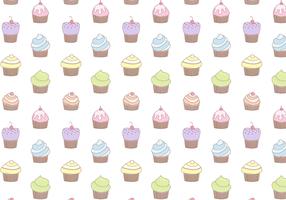 Free Cupcake Muster Vektor