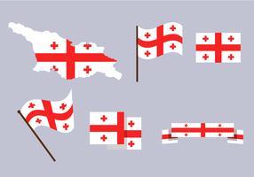 Kostenlose Georgia Karte Vektor