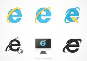 Free vector internet explorer set