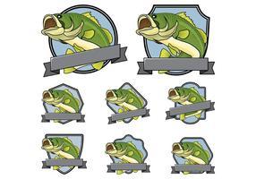 Bass fisk emblem Vector