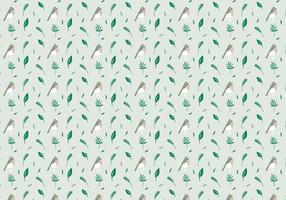 Vögel Pflanzen Muster vektor