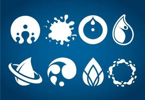Wasser Icons Vektor