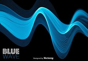 Blå abstrakt modern våg