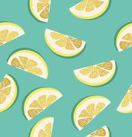 Zitronenscheiben Muster vektor